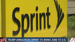 Trump announces Sprint to bring back 5,000 jobs to the United States - Video