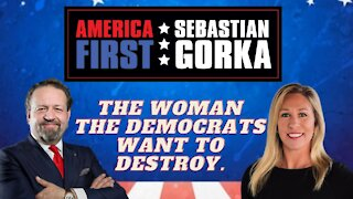 The woman the Democrats want to destroy. Rep. Marjorie Taylor Greene with Dr. Gorka on AMERICA First