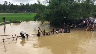 Flooding Displaces Rohingya Refugees in South Bangladesh - Video