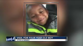 Vigil held for 4 year boy found burned inside Milwaukee apartment - Video