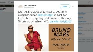 Park Theater announces 3 Bruno Mars shows