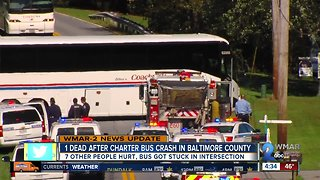 Falls Road charter bus crash kills one, injures eight