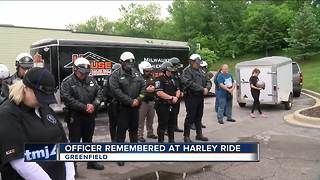 Fallen officer remembered at House of Harley ride - Video