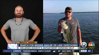 Search continues for Lake Okeechobee fisherman after weekend efforts unsuccessful - Video