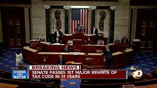 Senate passes first major rewrite of Tax Code in 31 years - Video