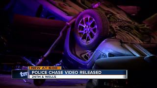 Dashcam of high speed chase - Video