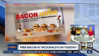Get FREE bacon at McDonald's on Tuesday!