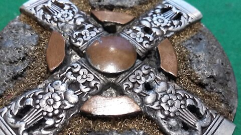 Silver Cross Ancient relic belt buckle - RT ARTISAN WORKS