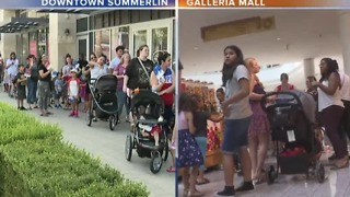 Long lines at Downtown Summerlin, Galleria Mall for Build-A-Bear promotion - Video