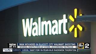 Police investigate shooting in Ellicott City Walmart - Video