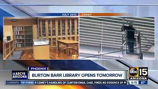 Burton Barr Library reopens Saturday - Video