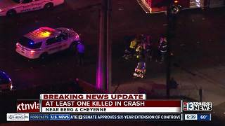 North Las Vegas police investigating fatal crash near Cheyenne, Berg - Video