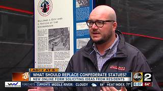 Baltimore seeks ideas on replacing confederate statues