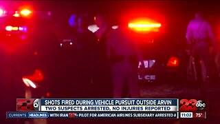 Shots fired during vehicle pursuit outside Arvin
