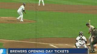 Milwaukee Brewers opening day ticket opportunity begins Wednesday - Video