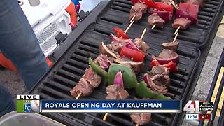 Royals fans tailgate ahead of Opening Day