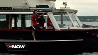 Mail boat jumpers take a leap of faith