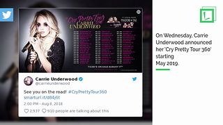 Carrie Underwood Pregnant With Second Baby, Still Touring In 2019
