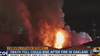 Death toll on the rise in Oakland warehouse fire - Video