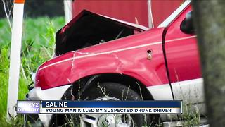 Young man killed by suspected drunk driver in Saline - Video