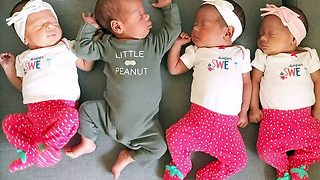 Parents of miracle quadruplets document their incredible journey online - Video