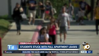 Despite virtual classes some students stuck with apartment leases