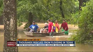 Thousands rescued from flooding in Texas