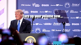 Donald Trump makes historic appearance at Values Voters Summit in Washington, DC... - Video