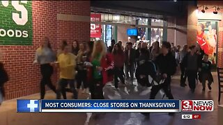 Most Consumers: Close Stores on Thanksgiving
