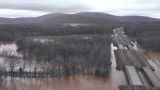 Drone Video Shows Flint River Basin Flooding - Video
