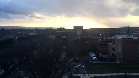 Stunning Timelapse Shows Snow Squall Passing Over Penn State University