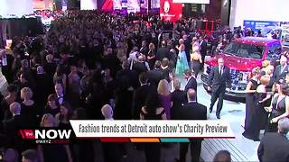 Fashion trends at Detroit auto show's Charity Preview - Video