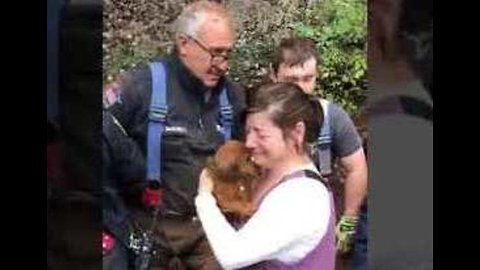 New Jersey Fire Department Rescues Dog Trapped in Pipe