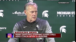 Mark Dantonio stepping down as Michigan State head coach