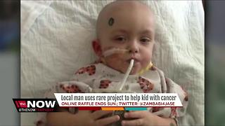 Local man raises money for child with cancer - Video