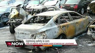 Lightning safety in cars