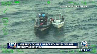 Missing divers rescued Saturday near Martin County