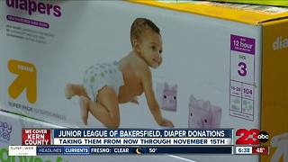 Junior League of Bakersfield holding a diaper drive through November 15th - Video