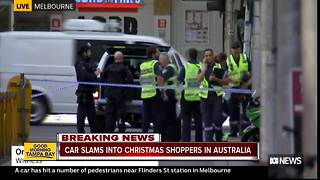 Car plows into Christmas shoppers in Melbourne, Australia, injuring more than a dozen. - Video