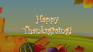 Happy Thanksgiving Greeting Card 1 - Video