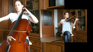 One-person 'Requiem For A Dream' violin & cello cover - Video