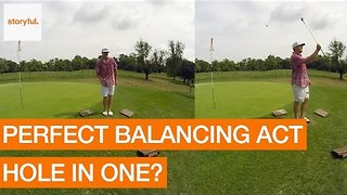 Golfing Coach Pulls Off Astonishing Trick Sequence - Video