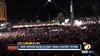 SDPD officer saves Las Vegas victims - Video
