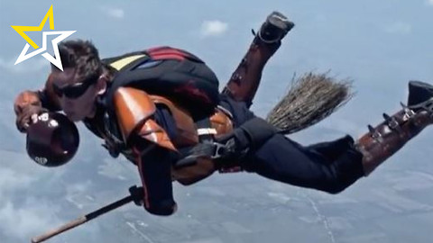 Skydivers Recreate 'Quidditch' For Colombian Telecom Company Commercial