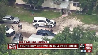 9-year-old dies after being pulled from Gibsonton creek