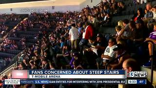 Fans concerned about steep seats at T-Mobile Arena - Video