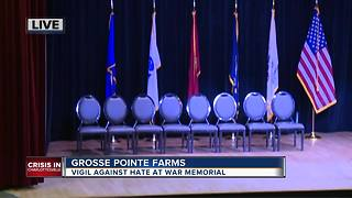 Vigil against hate at Grosse Pointe Farms war memorial - Video