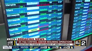 Flights delayed, canceled at BWI after evacuation at FAA facility - Video