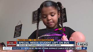 Deaf girl forgotten on bus after driver mishap - Video