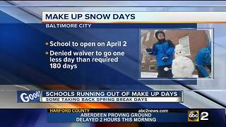 Schools running out of makeup days, some taking back vacation - Video